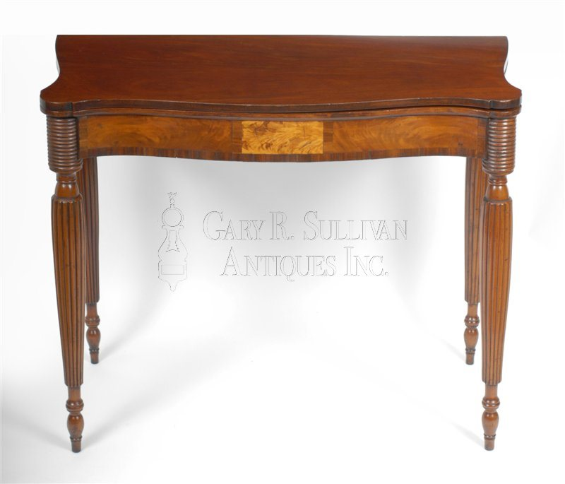 antique Sheraton card table