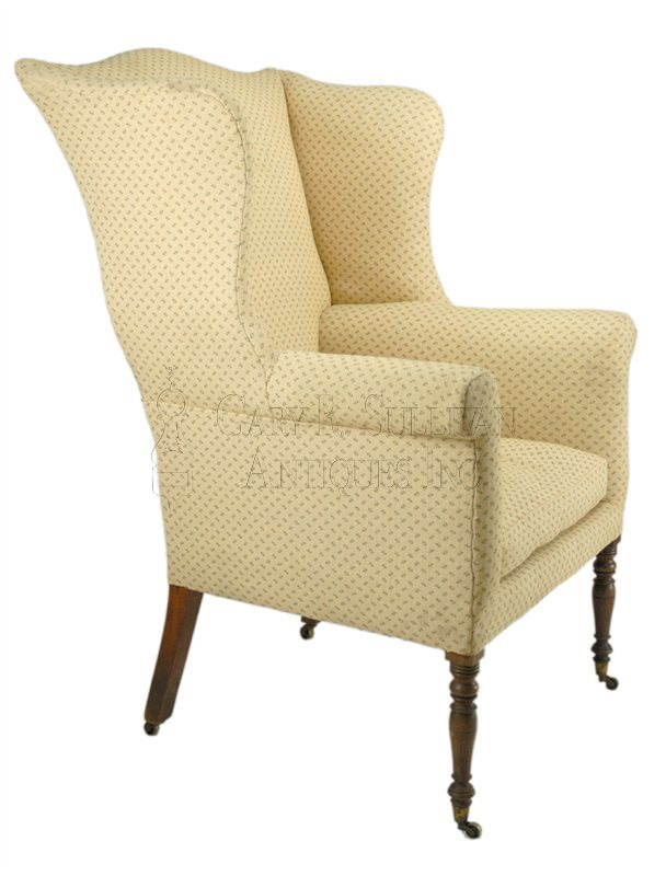 Sheraton antique wing chair