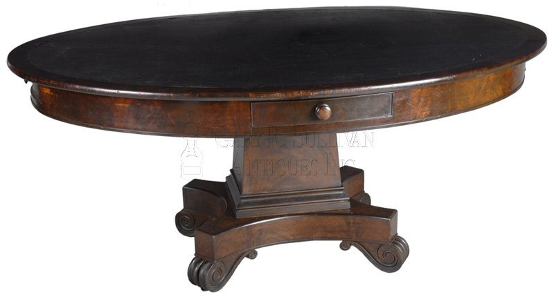antique classical library table
