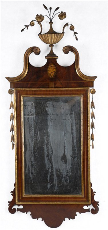 antique Gesso Mounted Mirror