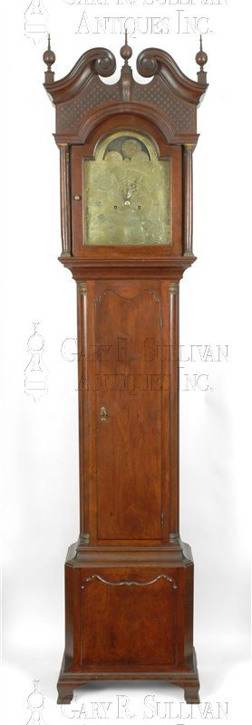 Aaron Lane Tall Clock (Elizabethtown, NJ)