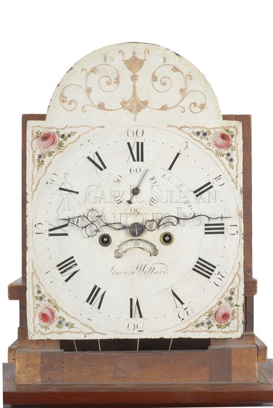 Simon Willard antique tall clock dial