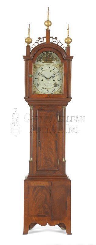 Joshua Wilder antique dwarf clock