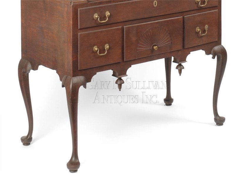 antique Chippendale high chest detail
