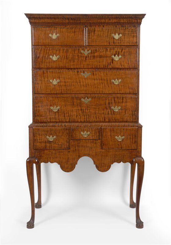 Queen Anne antique highboy