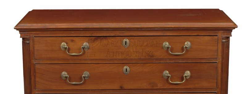 John Townsend antique Newport chest of drawers detail