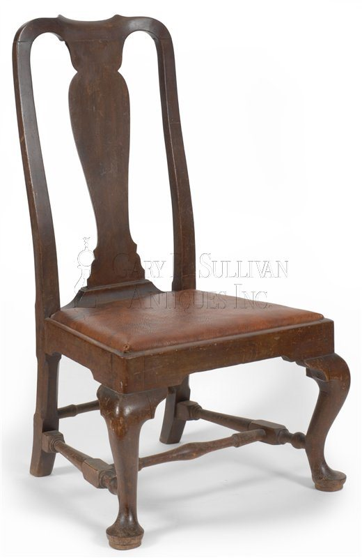 antique Queen Anne slipper chair