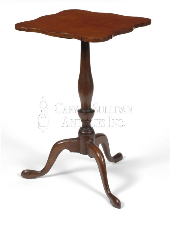 Queen Anne antique candle stand
