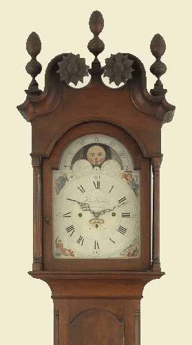 antique American musical clock
