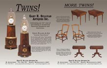 Ad for antique Simon Willard lighthouse clocks
