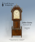 Ad for an antique John Gains dwarf clock