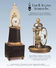An ad for an antique Simon Willard shelf clock