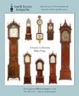 Ad for antique clocks for sale by Gary Sullivan Antiques
