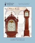 Ad for an antique Aaron Willard Roxbury case tall clock