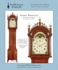 Ad for an antique Federal tall case clock by John Bailey