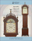 Ad for an antique grandfather clock with crusty surface