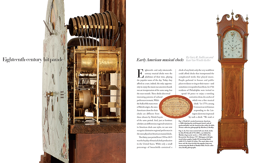 Good Early American Musical Clocks Article In The Magazine Antiques
