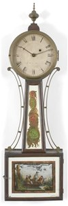 Joshua Wilder antique banjo clock