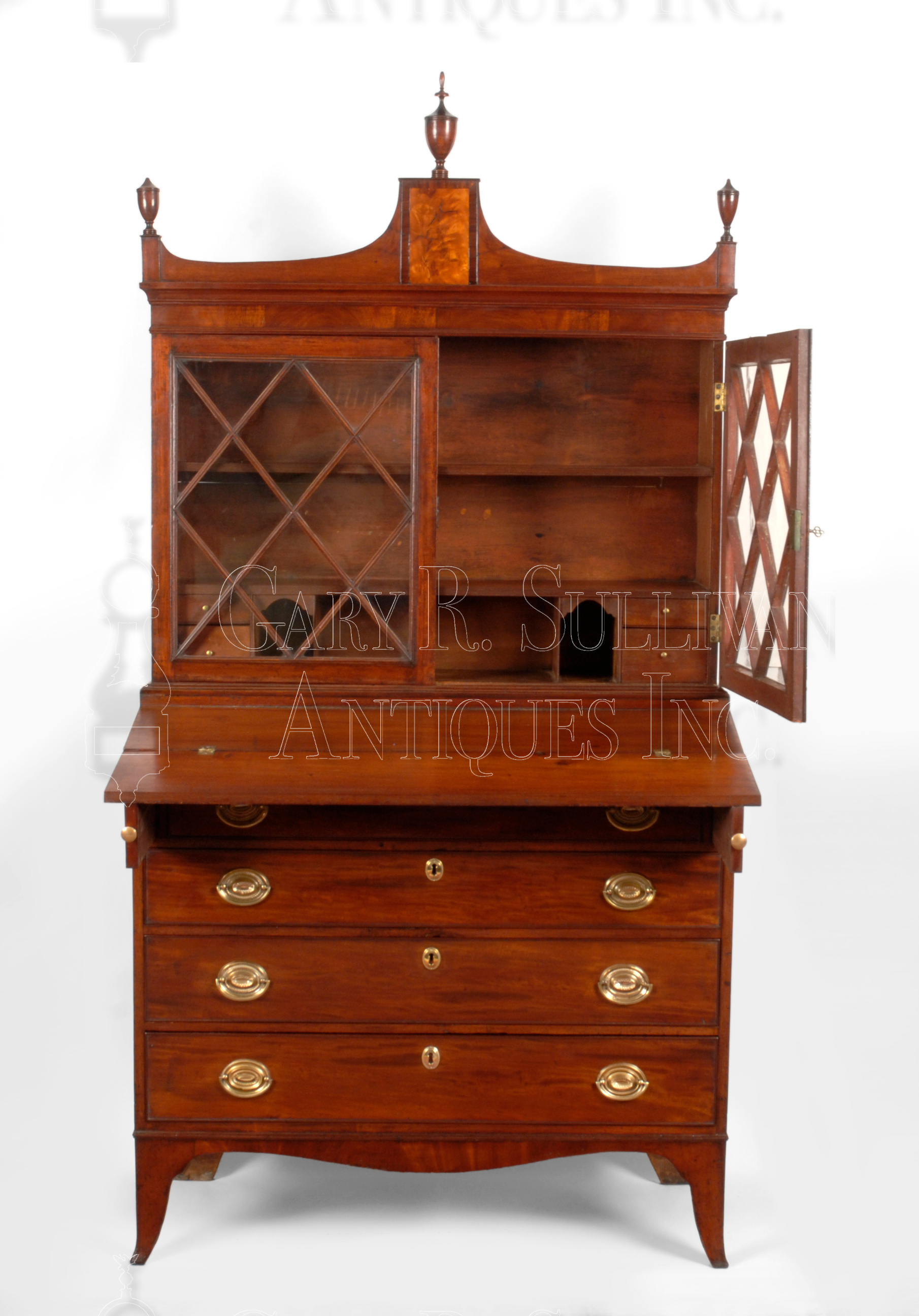 View in Browser. Federal Desk   Bookcase  Salem  Mass   Furniture 009027   Gary
