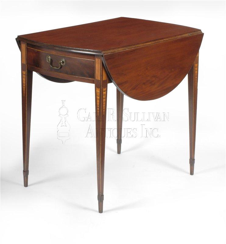 antique Federal Pembroke drop leaf table. Federal inlaid Pembroke table  NY  circa 1790   Clocks 11021