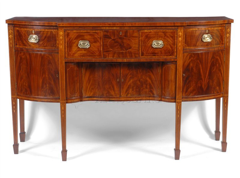 Federal inlaid antique sideboard
