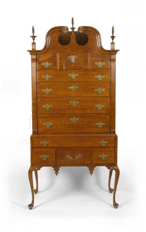 antique Queen Anne high chest