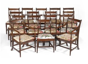 Regency antique dining chairs