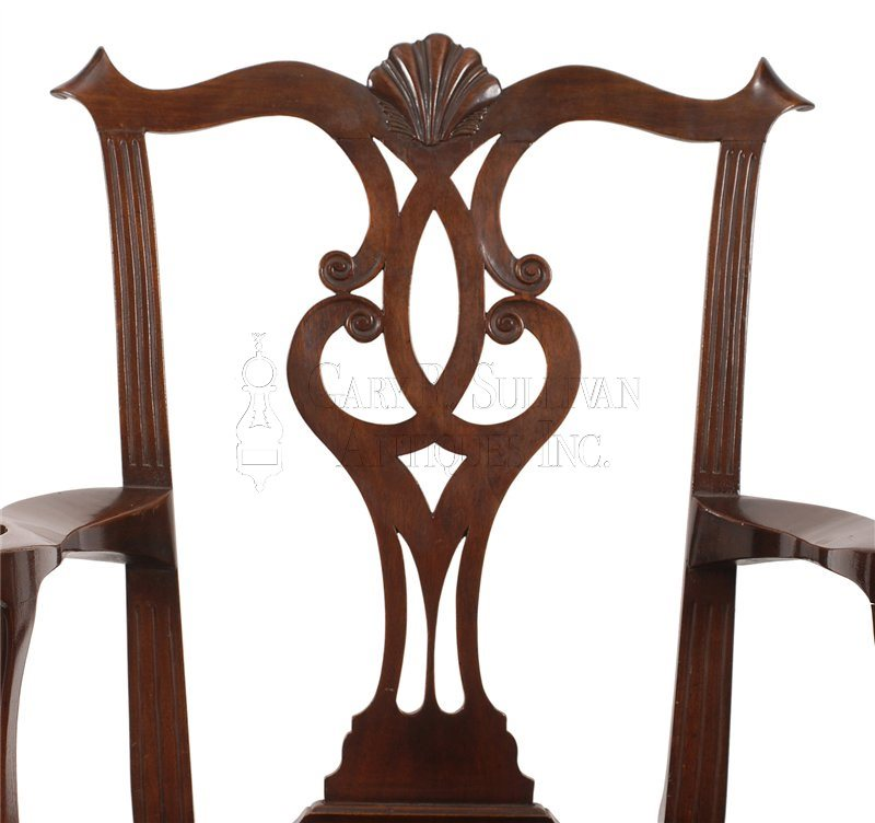 Philadelphia Chippendale armchair back splat