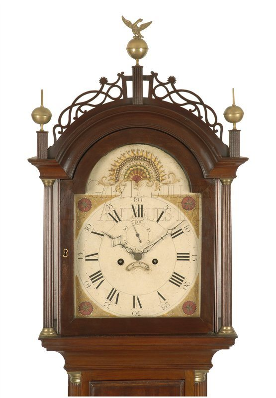 William McCabe Roxbury case clock hood