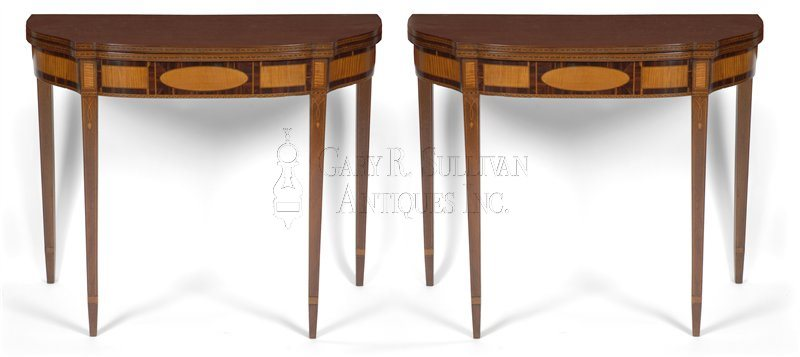 Pair of Boston games tables