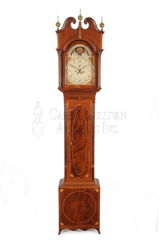 Inlaid New Jersey grandfather clock