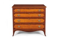 New Hampshire tiger-maple chest