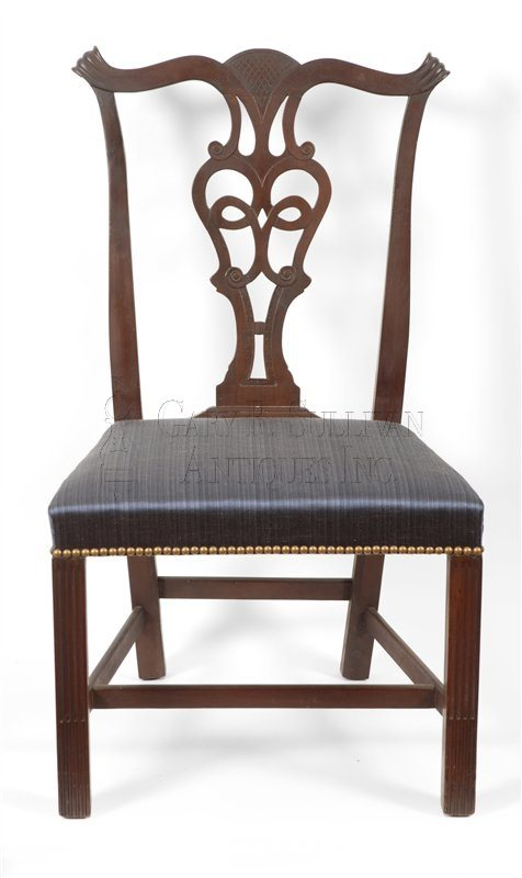 6 Chippendale mahogany dining chairs, (Newport, RI)