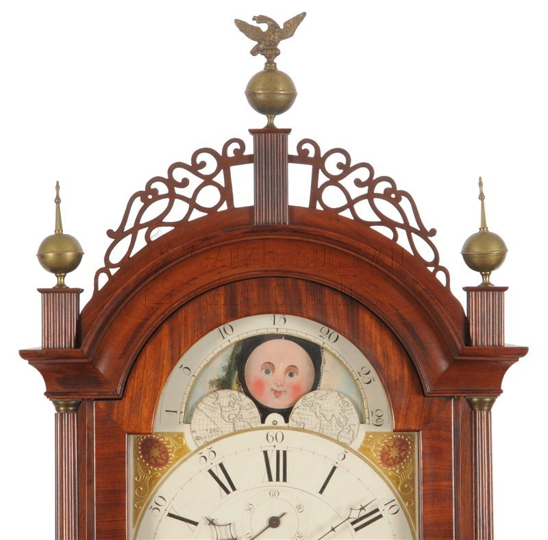 Aaron Willard Tall Clock fretwork