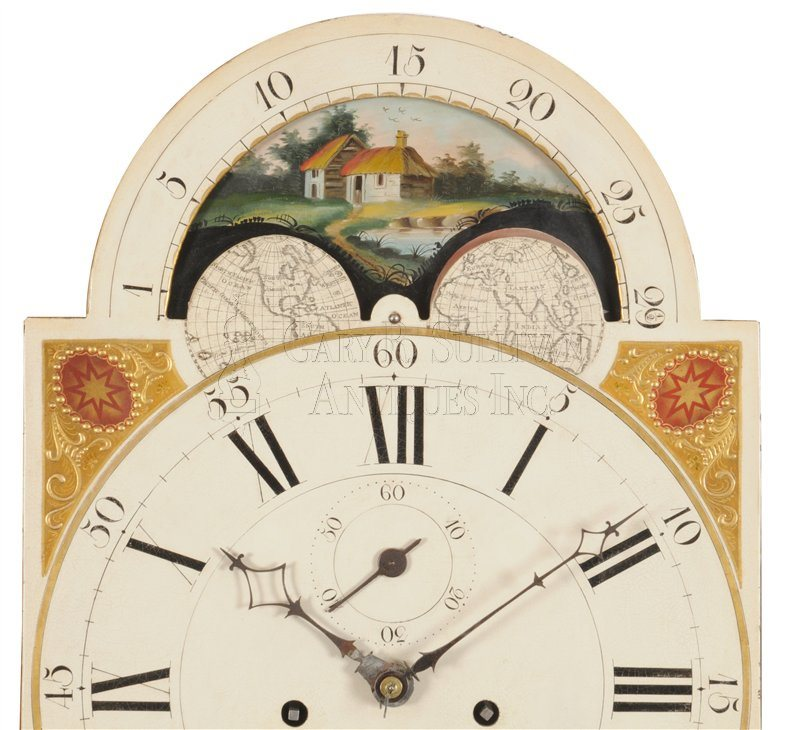 Aaron Willard Tall Clock moon phase