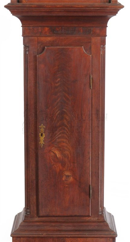 Pennsylvania Chippendale tall clock waist