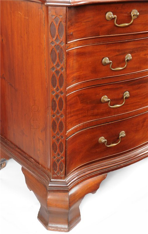Gostelowe Chippendale chest foot