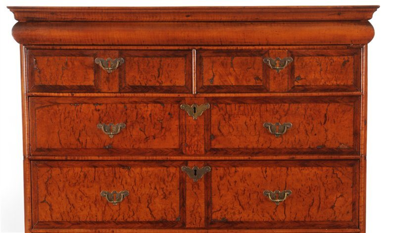 William & Mary High chest cornice