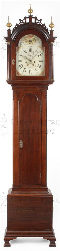 Roxbury case antique tall clock