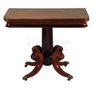 antique classical card table
