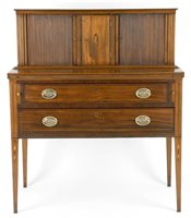 antique Seymour tambour writing desk