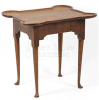 antique Queen Anne tea table