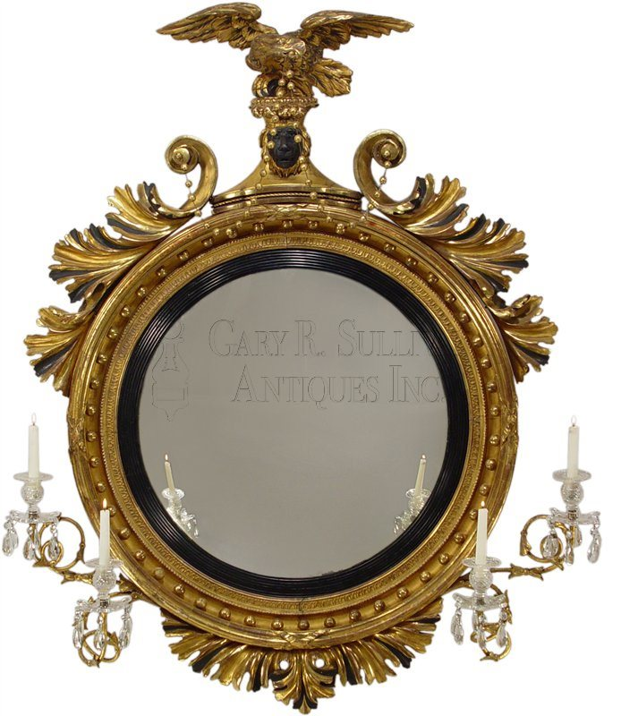 Classical Girandole Mirror, American Or British