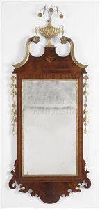 antique Federal looking glass