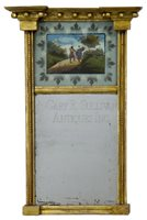 antique Federal giltwood mirror