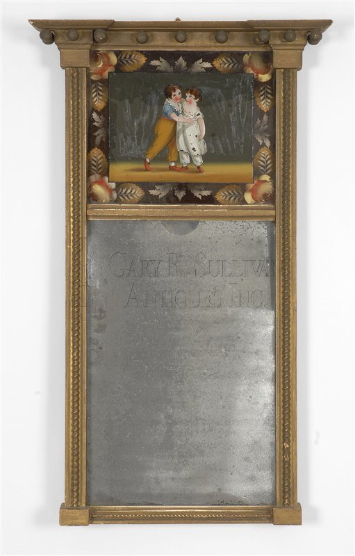 antique Labeled Federal mirror