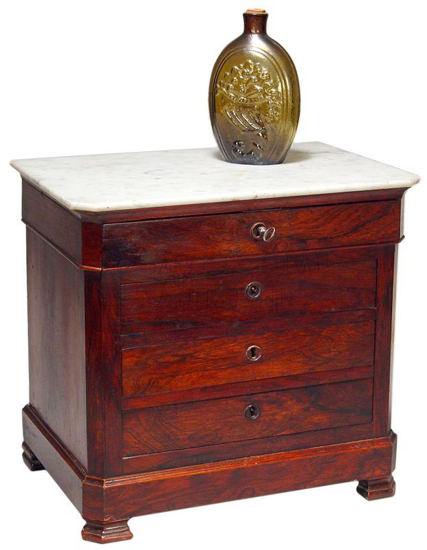 antique miniature Empire chest of drawers