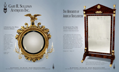 Ad for an antique girandole mirror and Cheval dressing glass