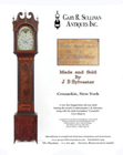 Ad for an antique Hepplewhite tall case clock
