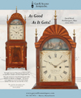 Ad for an antique David Wood Massachusetts shelf clock